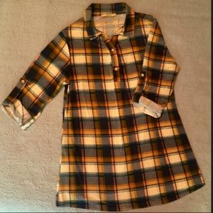 Tops - Cute plaid long top